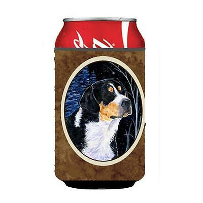 Starry Night Bernese Mountain Dog Can Or bottle sleeve Hugger