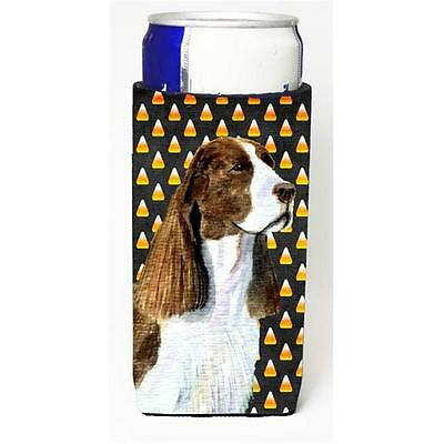 Springer Spaniel Candy Corn Halloween Portrait Michelob Ultra s For Slim Cans...