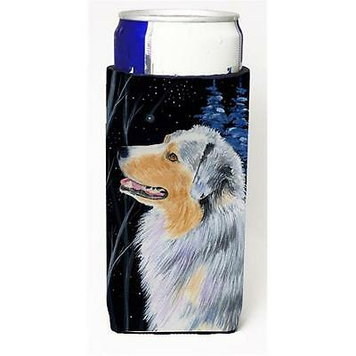 Starry Night Australian Shepherd Michelob Ultra bottle sleeves For Slim Cans