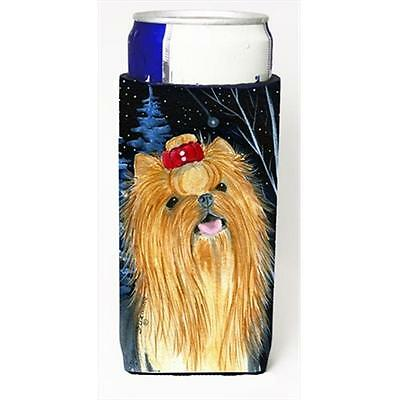 Starry Night Yorkie Michelob Ultra bottle sleeves For Slim Cans