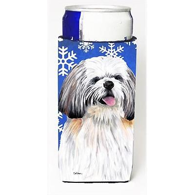 Shih Tzu Winter Snowflakes Holiday Michelob Ultra bottle sleeves For Slim Cans