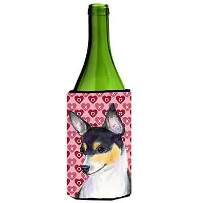 Chihuahua Hearts Love And Valentines Day Portrait Wine bottle sleeve Hugger