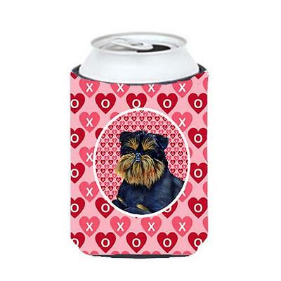 Brussels Griffon Valentines Love And Hearts Can Or bottle sleeve Hugger 12 oz.