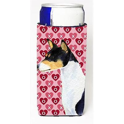 Basenji Hearts Love And Valentines Day Portrait Michelob Ultra bottle sleeves...