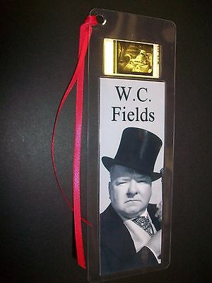 W C FIELDS Movie Film Cell Bookmark Collectible Compliments poster dvd