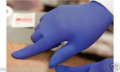 100/bx,1000/cs Premium Nitrile Powder and Latex Free Synthetic Exam Gloves