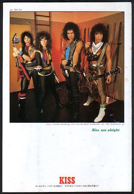 1984 Kiss Eric Carr JAPAN mag photo pinup / mini poster / clipping cutting k02m