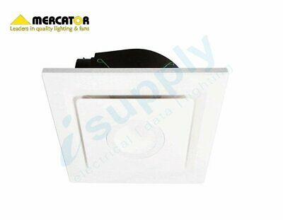 "Mercator EMELINE 290mm 10"" Square Exhaust Fan with LED BE050ESP"