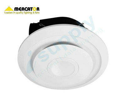 "Mercator EMELINE 290mm 10"" Round Exhaust Fan with LED BE120ESP"