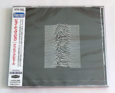 JOY DIVISION Unknown Pleasures JAPAN CD 2005 WPCR-75047 w/OBI NEW SEALED