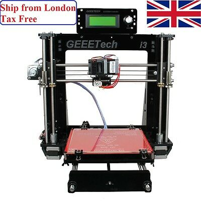 From UK Geeetech Reprap 3D printer Prusa I3 Pro B Print 5 materials Acrylic DIY