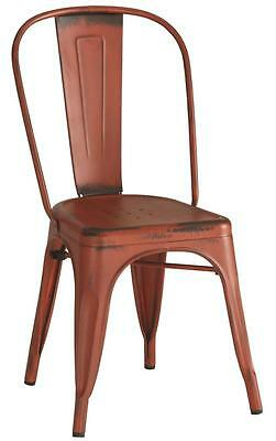 Contemporary Red Industrial Metal Chair by Coaster 105613 - Set of 4