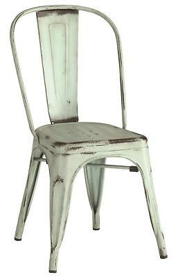 Contemporary Blue Industrial Metal Chair by Coaster 105614 - Set of 4