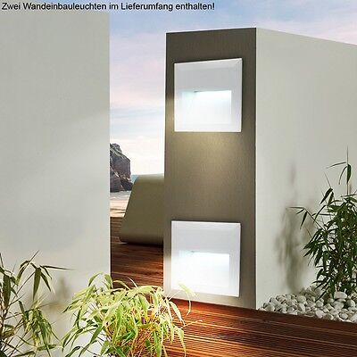 2er set treppen weg lampen led garagen wand leuchten. Black Bedroom Furniture Sets. Home Design Ideas