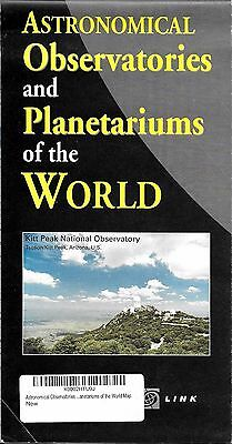 Astronomical Observatories & Planetariums of the World Map, by MapLink