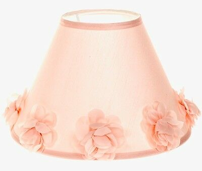 Pretty Pink Floral Tapered Duel Light Shade Lamp Ceiling Flowers NEW Girls Room