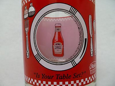 Heinz Ketchup Collectible Glass Tumbler vintage see through window condiment HJ