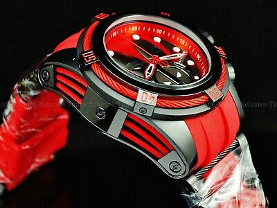 Invicta Reserve 52mm LE Marvel Deadpool Bolt Zeus Swiss Ronda Z60 Chrono Watch