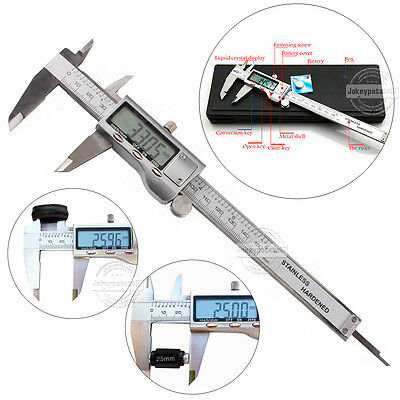 "UK 6"" 150mm Digital Vernier Caliper Gauge Micrometer Tool Electronic LCD Display"