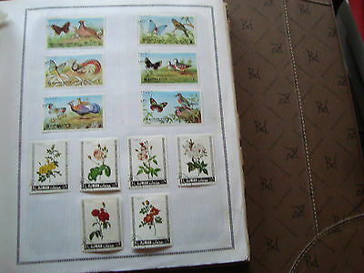 AJMAN STATE - 12 timbres obliteres (animaux/fleurs) stamp