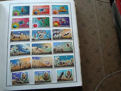 AJMAN STATE - 18 timbres obliteres (espace) stamp