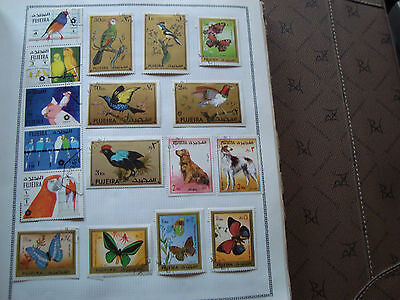 FUJEIRA - 17 timbres obliteres (animaux) stamp