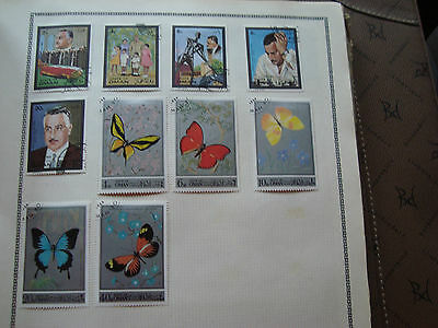 OMAN - 10 timbres obliteres stamp