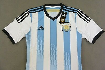 Adidas Argentina World Cup 2014 Brazil Home Football T-Shirt SIZE S (adults)
