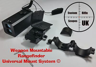 Weapon Mountable Rangefinder Universal Mount System, zero to your rifle scope !