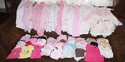 Adorable Large Lot of Baby Girl size NB, 0-3M