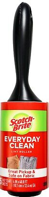 Scotch-Brite Lint Roller for Laundry Clothes Fuzz Pet Hair, 75 150 or 375 Sheets