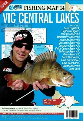 AFN Fishing Maps VIC Central Lakes (Vic) Map 14 Tear & Water Resistant Map