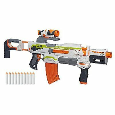 Nerf N-Strike Modulus ECS-10 Blaster, Dart Gun w/ Banana Clip and Scope NEW