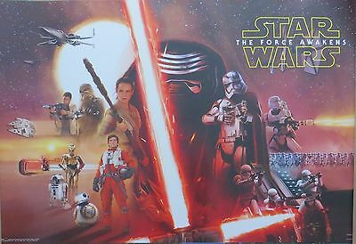 Star Wars Episode 7 - Collage-LAMINATED POSTER-91cm x 61cm-Brand New