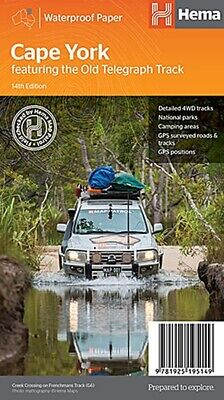 Hema Maps Cape York with old telegraph Track 4WD Explorer Map 14th ED