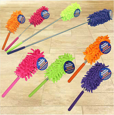 Microfiber Cleaning Duster Dust Cleaner Handle Feather Dusting Anti Magic L