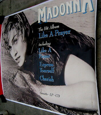 Madonna 1989 Like A Prayer quadruple quad poster on linen THE ONLY POSTER LEFT