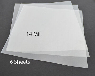 "14Mil .35mm Clear Mylar Sheets Blank Stencils airbrush Quilting 12""x12"" (6 Pack)"
