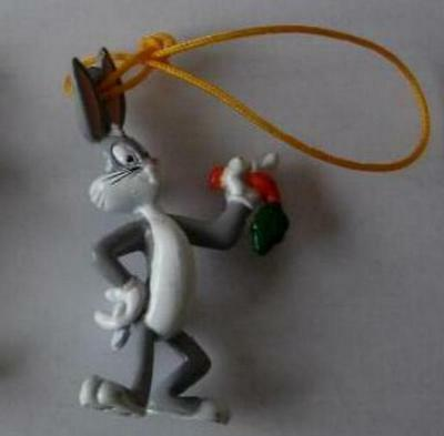 RARE Figure BUGS BUNNY from LOONEY TUNES With DANGLER Tomy ITALY MINT NEW
