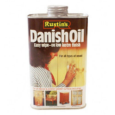 Rustins Wood Danish Oil Low Lustre Finish 1L Can