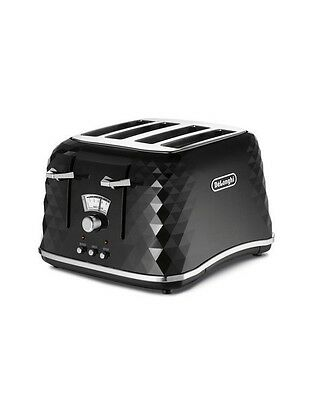 NEW Delonghi Brilliante Toaster 4 slice toster - Black CTJ4003BK