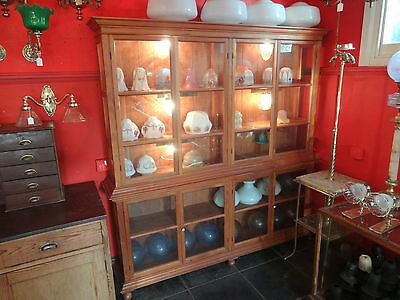 Pair Of Glass /  Wood Showcases Or Shop Counters Display Cabinets Book • £800.00