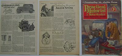 Austin Seven 7 - 2 Technical Articles from Practical Motorist & Motor Cyclist