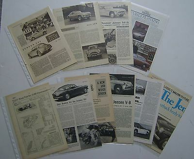 Jensen 541 collection of 11 Articles & Road tests from various Magazines