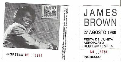 JAMES BROWN Italy 1988 2 Used Ticket Stubs