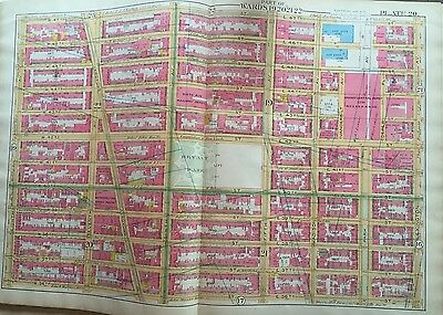 1891 Robinson Midtown Manhattan Bryant Park Grand Central Station Orig Atlas