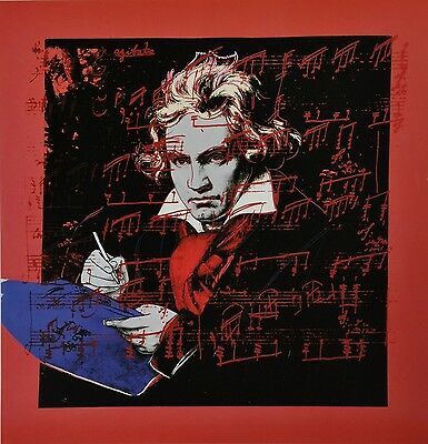 Andy Warhol Kunstdruck Offset Lithograph 48x48 Ludwig van Beethoven 1987 Porträt