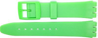 New 17mm (20mm) Resin Strap Compatible for Swatch® Watch - Light Green - RG14LG