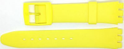 New 17mm (20mm) Resin Strap Compatible for Swatch® Watch - Yellow - RG14Y