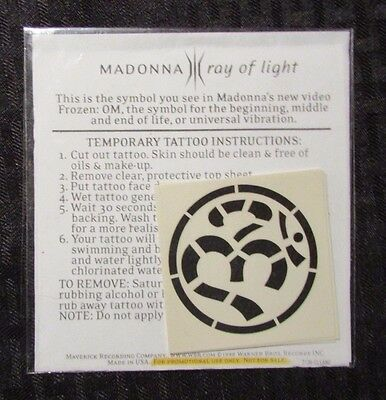 1998 MADONNA Ray of Light Temporary Tattoo OM Symbol